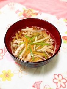 春の野菜たっぷり沢煮椀